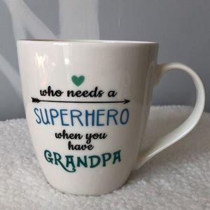 NWT Pfaltzgraff Superhero Grandpa Mug